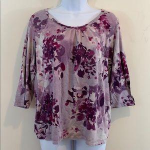 St. John's Bay 3/4 Sleeve Floral Shirt  Size 1X